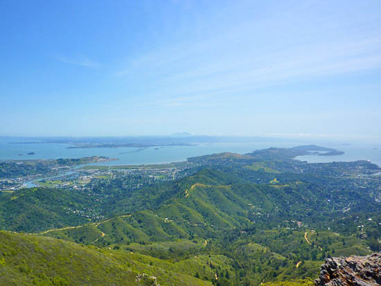 North Bay views from the East Peak of Mt Tamalpais