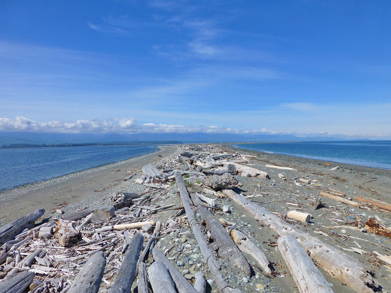 The Dungeness Spit at its narrowest point