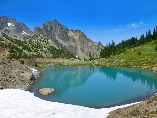 One of several large tarns in Upper Royal Basin